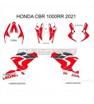 Red White Sticker Complete Kit - Honda CBR 1000 RR 2020 / 2021