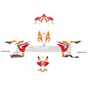 Kit complet adhésifs design Repsol - Honda CBR 1000 RR 2020 / 2021