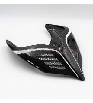 Codino en carbone white design - Ducati Panigale V4 / V4S / V4R / V2 / Streetfighter V4
