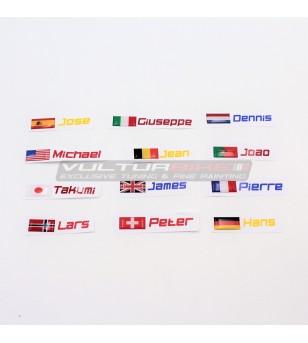 Customizable 3D flags name...