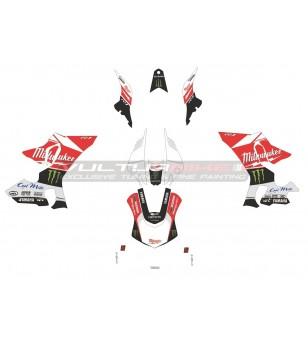Complete stickers' kit replica Milwaukee - Yamaha R1 15/19