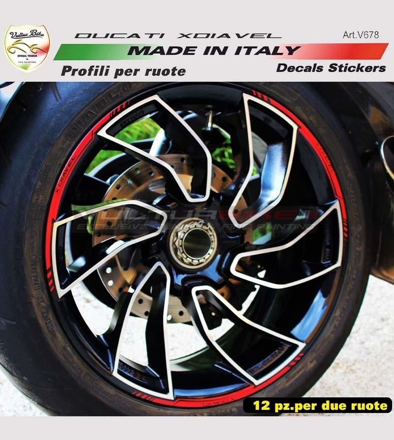 Perfiles de pegatinas para ruedas - Ducati XDiavel