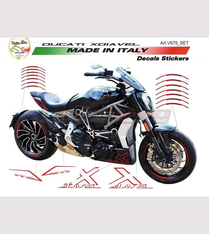 Customizable stickers' kit with wheel profiles - Ducati XDiavel