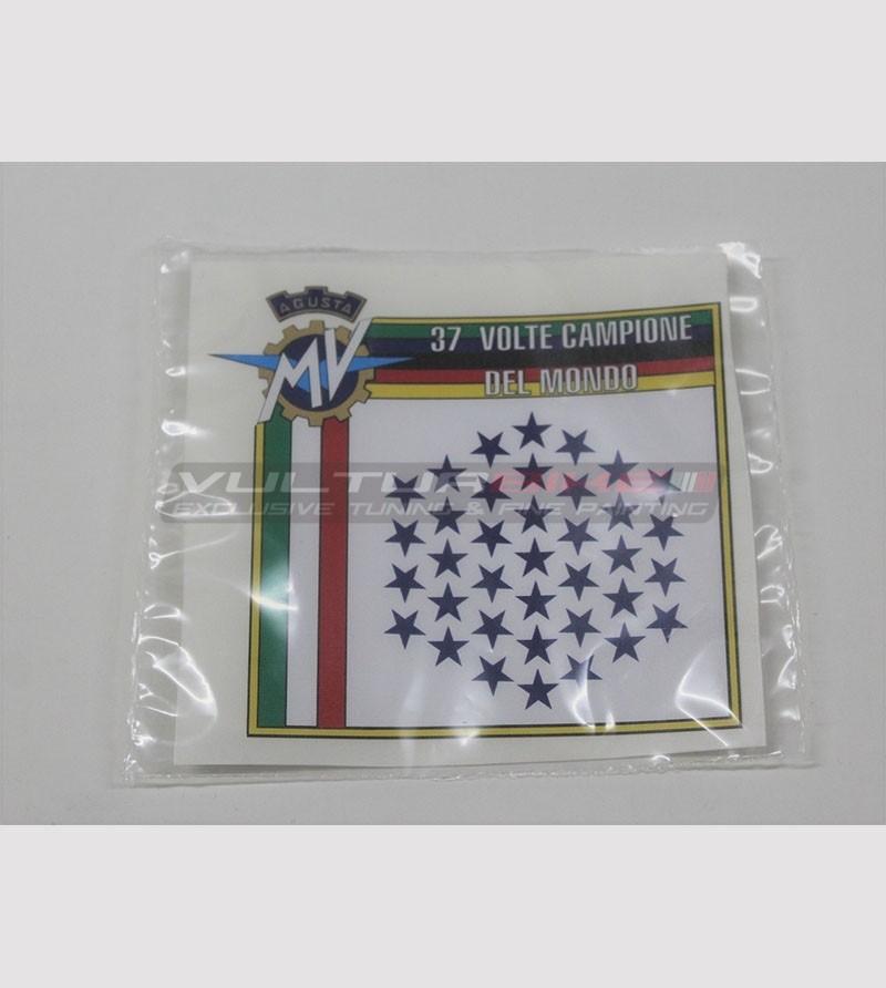 Special sticker MV AGUSTA 37 times world champion