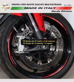 Adesivi profili per ruote - Ducati Multistrada 1200/1260