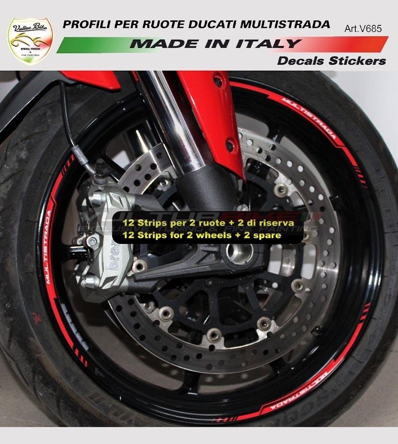 Perfiles de pegatinas para ruedas - Ducati Multistrada 1200/1260