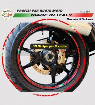 Profili adesivi universali per ruote moto