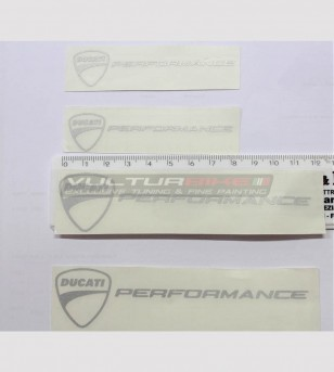 Kit 4 adesivi Ducati performance