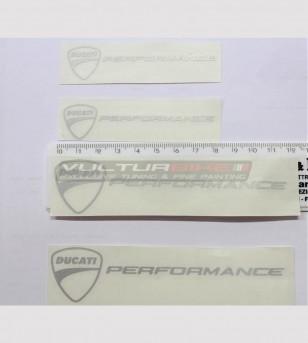 Kit 4 adesivi Ducati performance