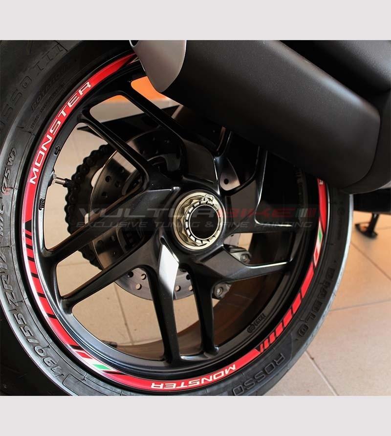Stickers' kit for Ducati Monster's wheels