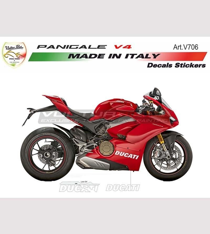2 Adesivi Ducati per carene inferiori - Ducati Panigale V4 / V4R