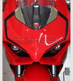 2 Dome Aufkleber - Ducati Panigale V4 / V4S / V4R / V2 2020