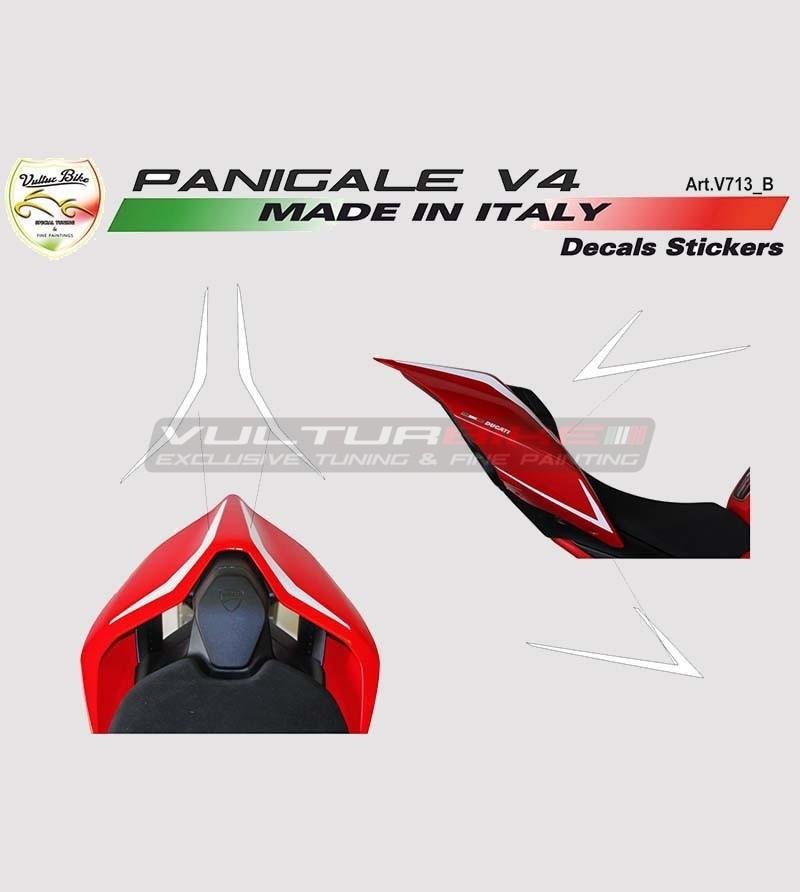 4 Adesivi per codino - Ducati Panigale V4 / V4S / V4R / V2 2020 / Streetfighter V4