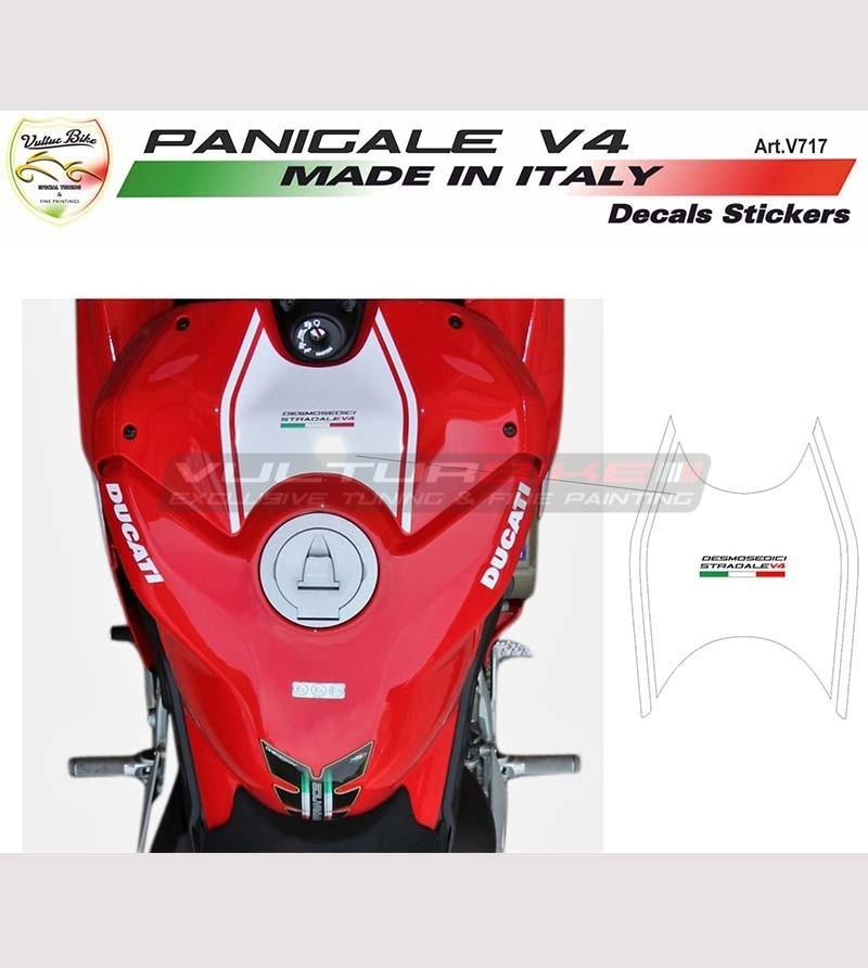 Pegatina personalizada para la cubierta del tanque - Ducati Panigale V4 / V4R