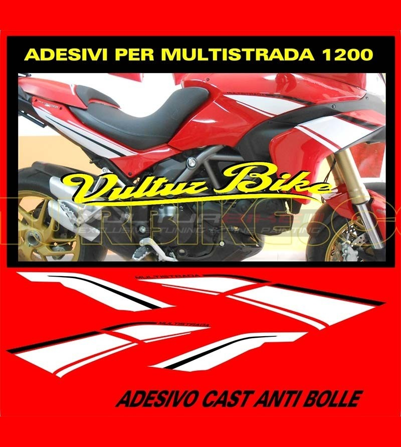 Stickers Side fairings - Ducati Multistrada 1200