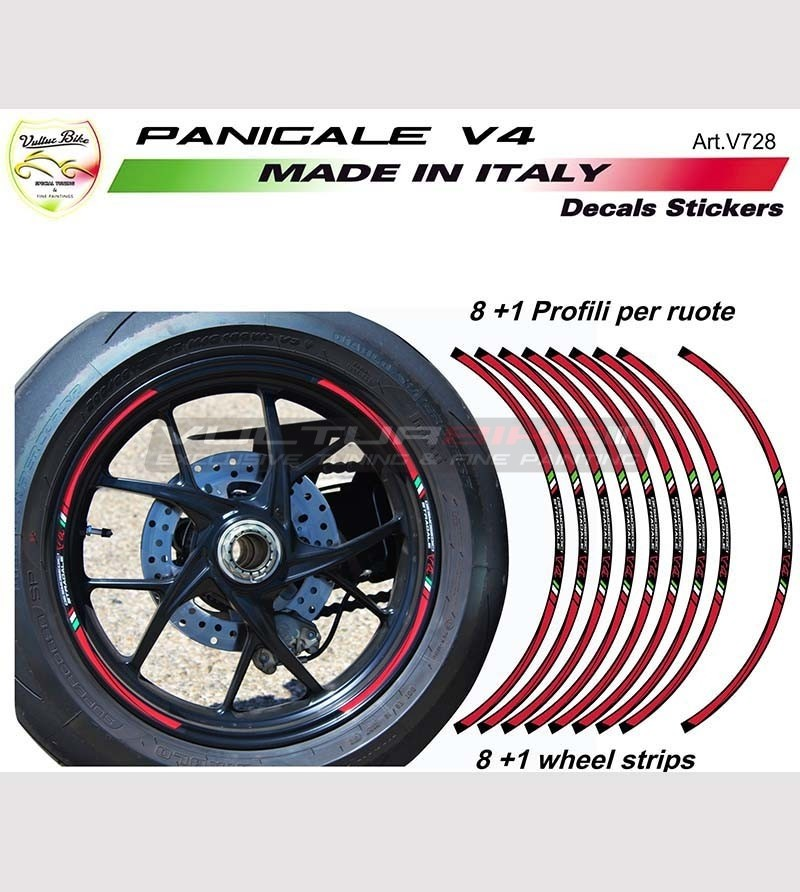 Kit 9 perfiles adhesivos para ruedas - Ducati Panigale v4 / V4R