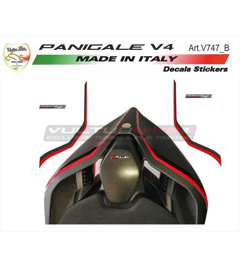 Special red-black tail's stickers - Ducati Panigale V4 / V4S / V4R