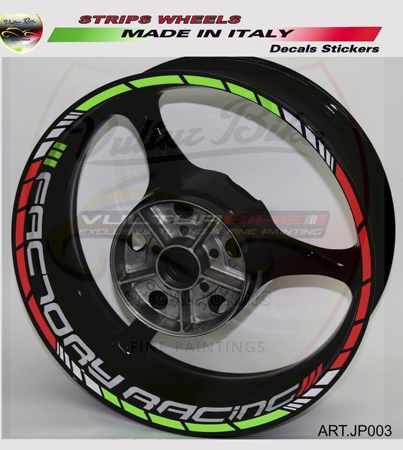 Adesivi universali colorati Factory Racing