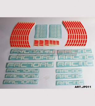 Universal colored Factory Racing stickers