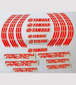 Pegatinas fluo Factory Racing para ruedas de motocicleta de 17 pulgadas - Yamaha