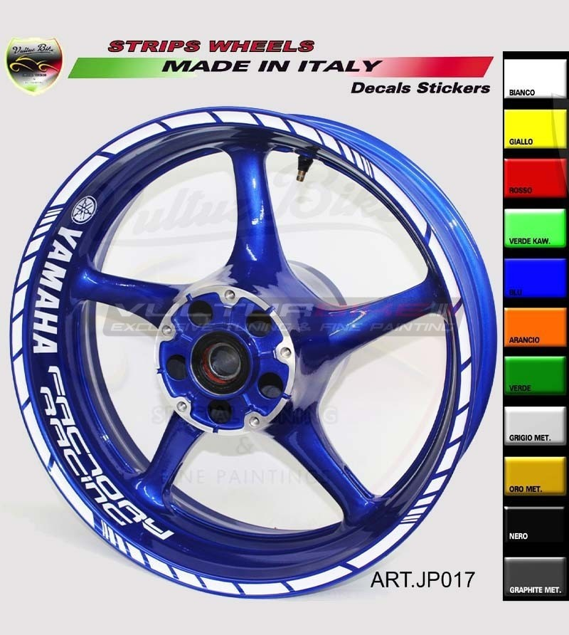 Factory Racing stickers for 17 inch motorcycle's wheels - Yamaha
