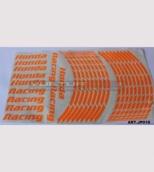 Honda Racing fluo stickers motorcycle's wheels - Honda