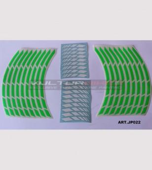 Pegatinas universales para ruedas de motocicleta de 17 pulgadas