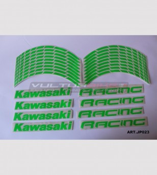 Kawasaki Racing stickers for 17 inch motorcycle's wheels - Kawasaki