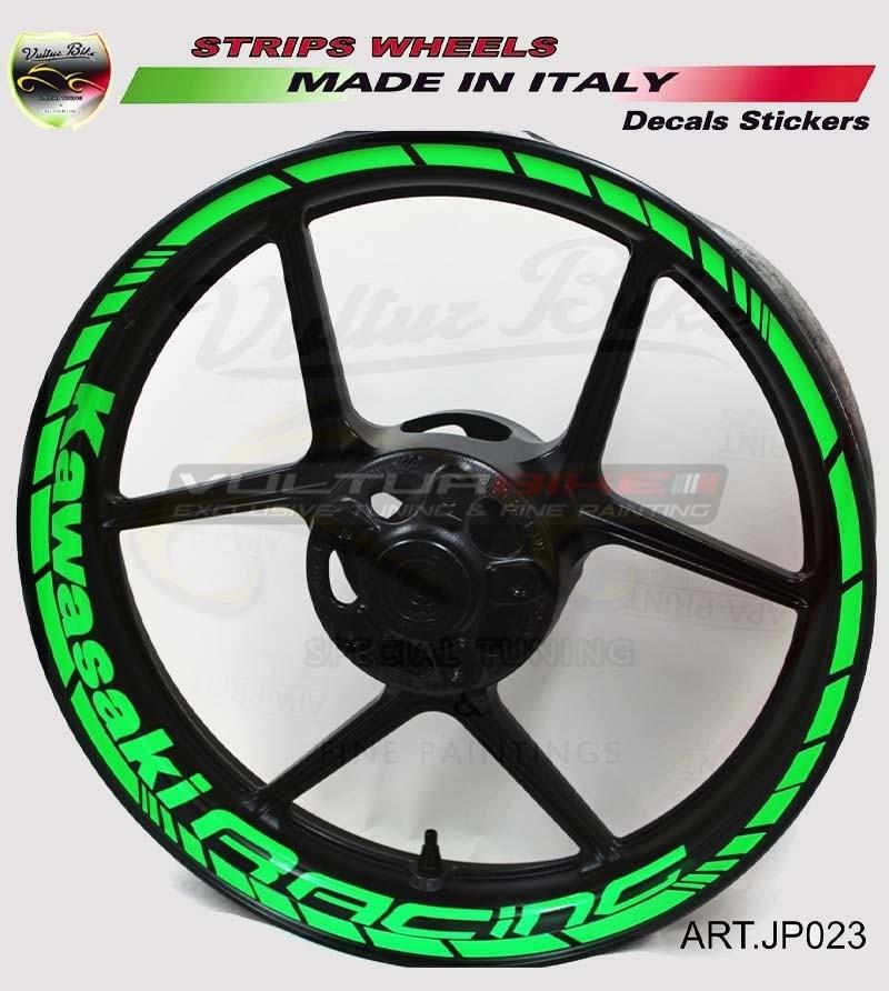 Kawasaki Racing stickers for 17 inch motorcycle's wheels - Kawasaki