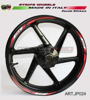 Pegatinas de la rueda de la motocicleta - Yamaha R1