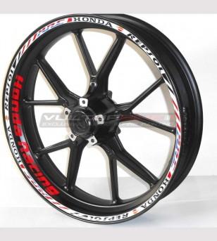 Adesivi ruote Honda Racing...