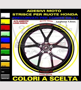 Adhesive profiles for rims - Honda Racing