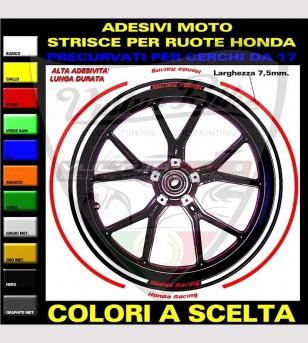 Perfiles adhesivos para llantas - Honda Racing