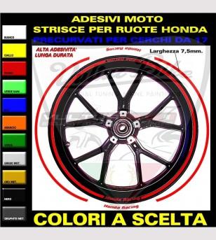 Profili adesivi per cerchi - Honda Racing