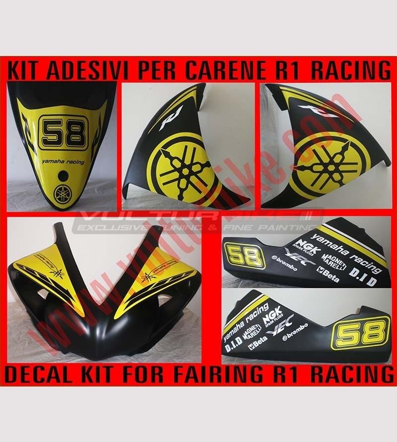 Kit de pegatinas de carreras con número - Yamaha R1 2009/2010/2011/2012