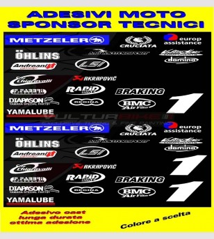 Motorcycle's technical sponsor stickers - Yamaha R1/R6