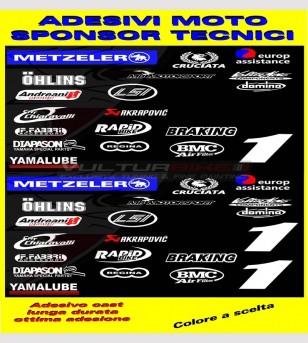 Pegatinas técnicas de motocicletas patrocinadoras - Yamaha R1/R6