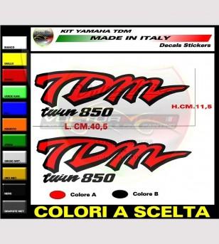 Laterales y kit adhesivo de asiento inferior - Yamaha TDM 850