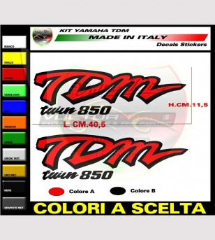 Kit adesivi fiancate laterali e sottosella - Yamaha TDM 850