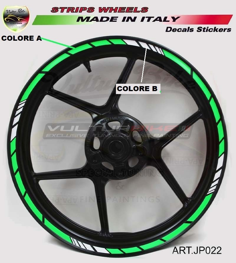 Universal stickers for 17 inch motorcycle's wheels