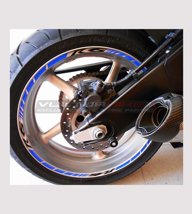 Pegatinas personalizables de la rueda de la motocicleta - Yamaha R6