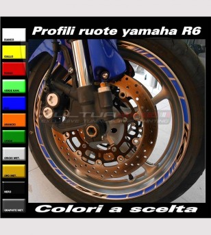 Customizable motorcycle wheels' stickers - Yamaha R6