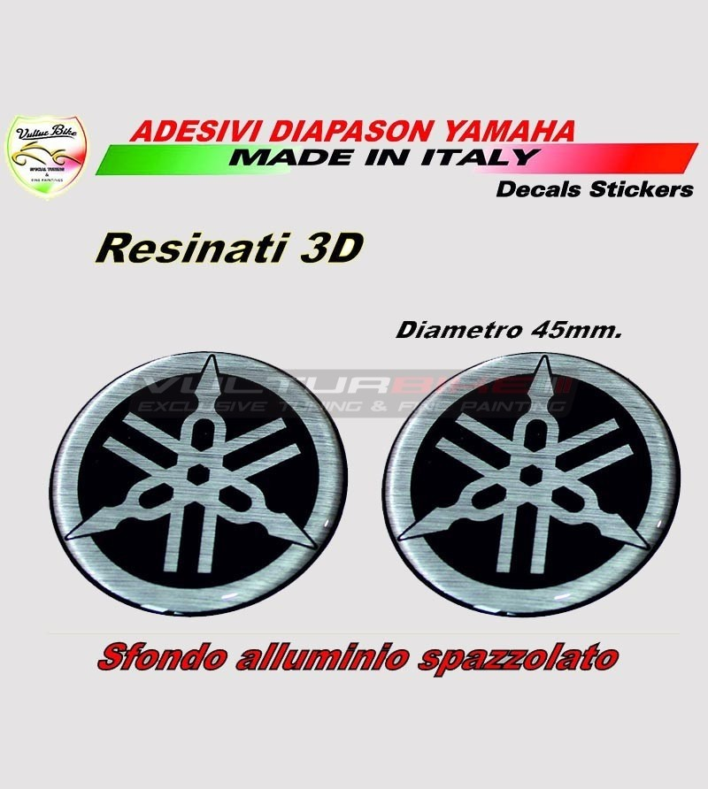 2 tank stickers 3D resin - Yamaha R1