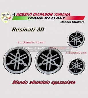 4 Adhesivos resina de diapason 3D carenado y tanque - Yamaha t max