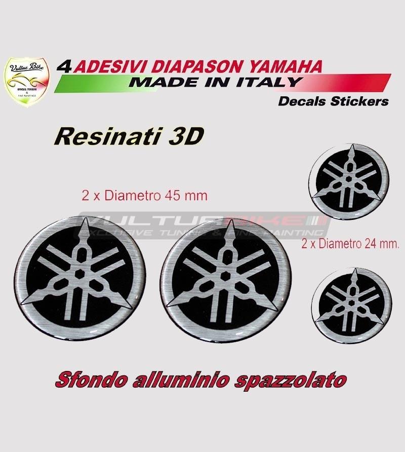 4 Adesivi diapason resina 3D carene e serbatoio - Yamaha t max