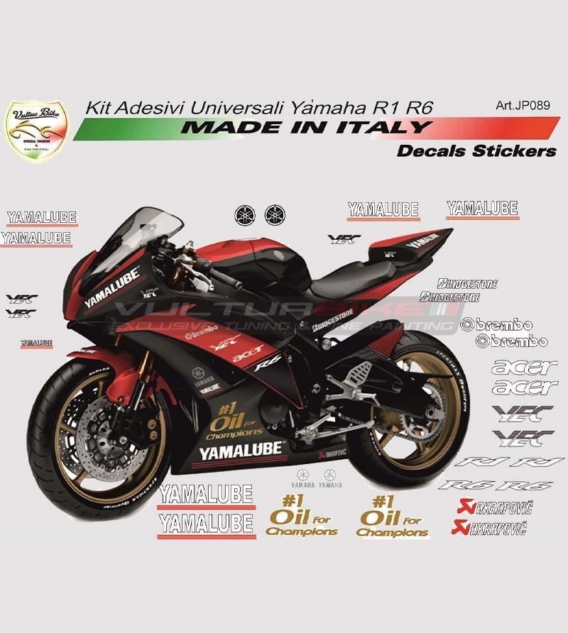 Kit adesivi sponsor tecnici - Yamaha R1/R6