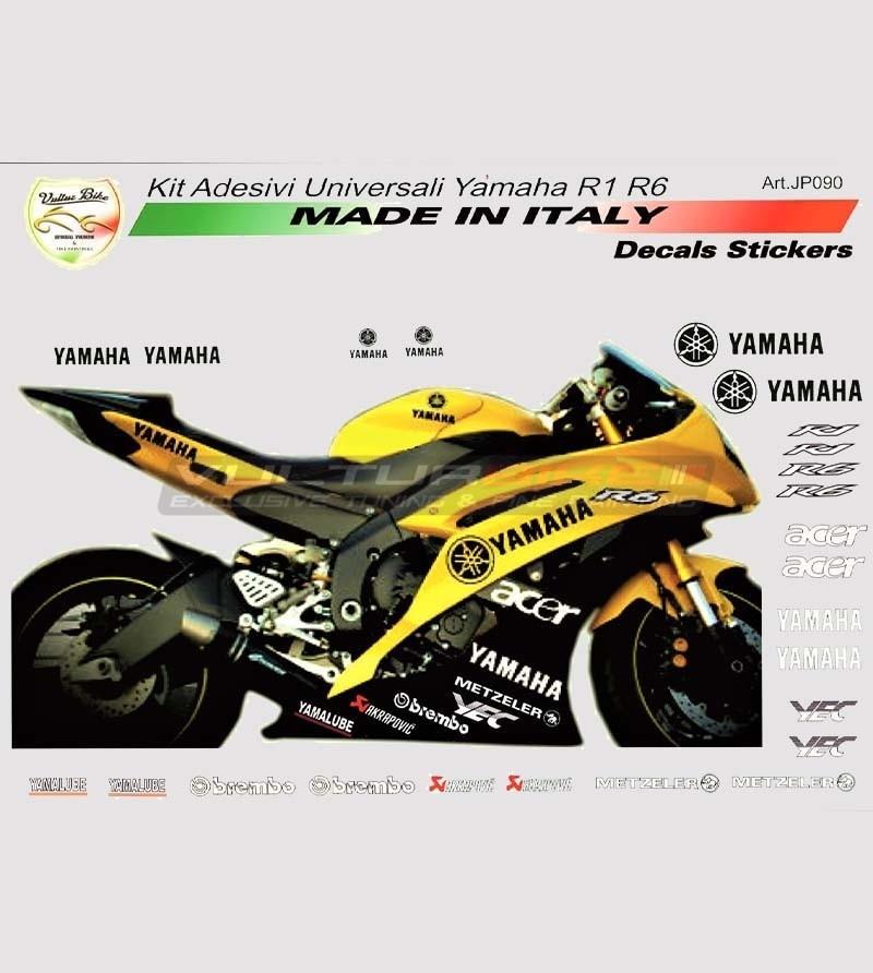 Kit 24 adesivi sponsor tecnici - Yamaha R1/R6