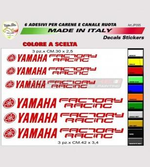 Autocollants Yamaha Factory Racing carénages et roues - Yamaha R6/R1