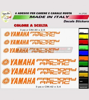 Adesivi per carene e ruote diapason Yamaha Factory Racing  - Yamaha R6/R1
