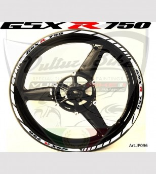 Adesivi personalizzabili per ruote - Suzuki GSX R 750